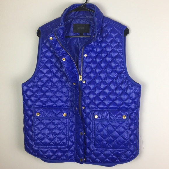 J. Crew Jackets & Blazers - J crew Puffer Down filled vest gold button quilted